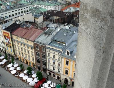 Вид с высоты башни Мариацкого костела