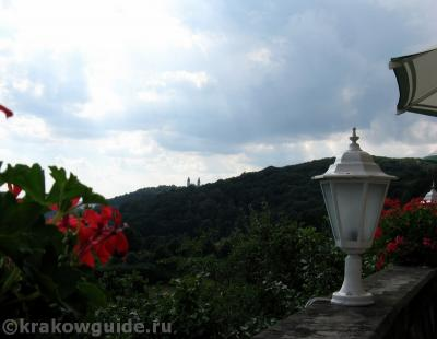 Вид из замка Пжегожалы