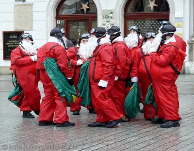 Деды морозы в Кракове