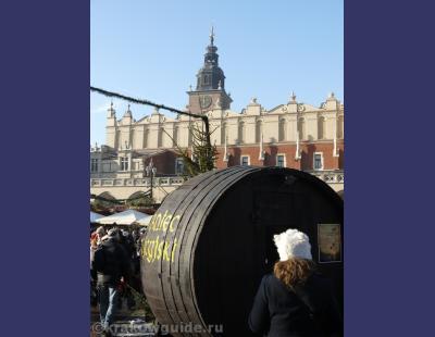 Новый Год на рыночной площади в Кракове