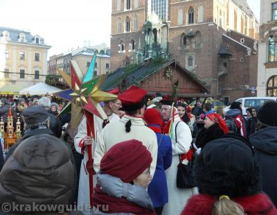 Праздник Трех КОролей на Рыночной площади в Кракове