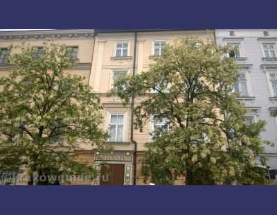 Вид на каменные дома Кракова