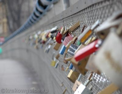 Мост влюбленных в Кракове