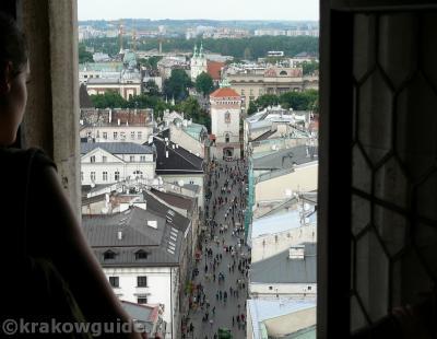 Трубач приветствует гостей города Кракова