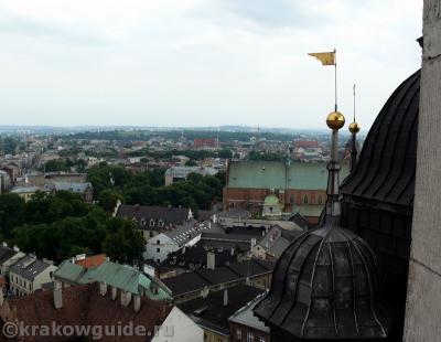 Вид на Краков с высоты башни