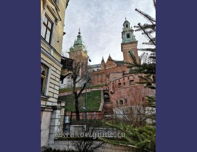 Вавель. Вид на часовую башню собора