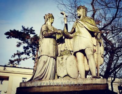 Королева Ядвига и король Ягелло